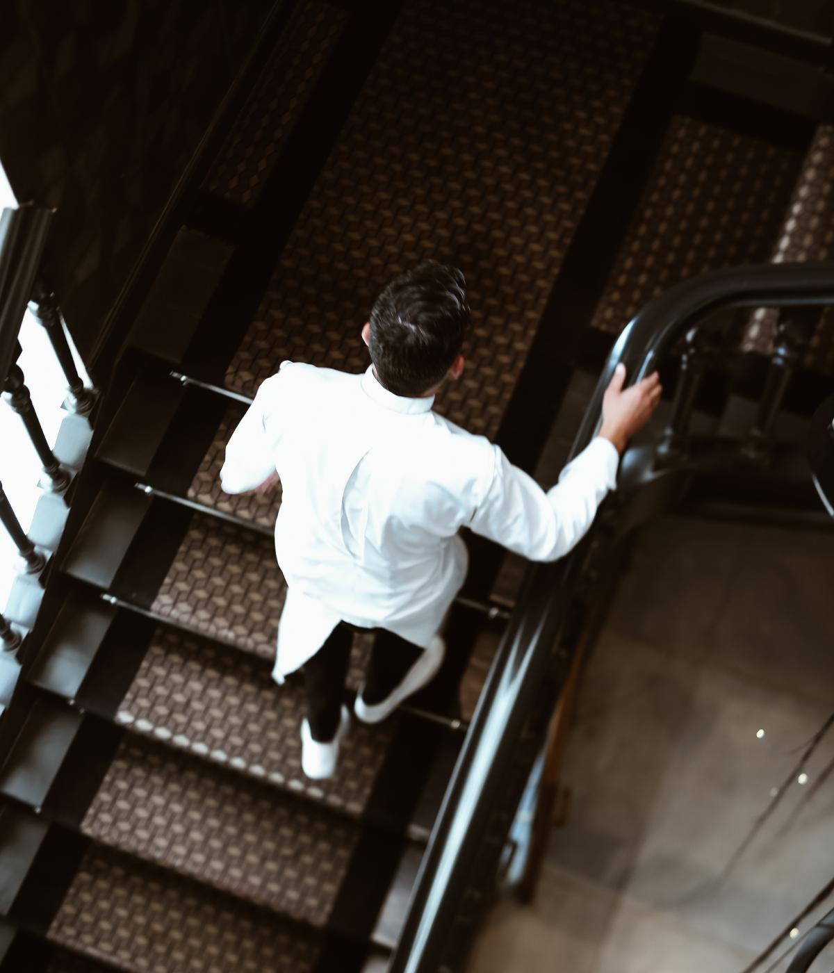 Chef van Eenoo escalier brugmann